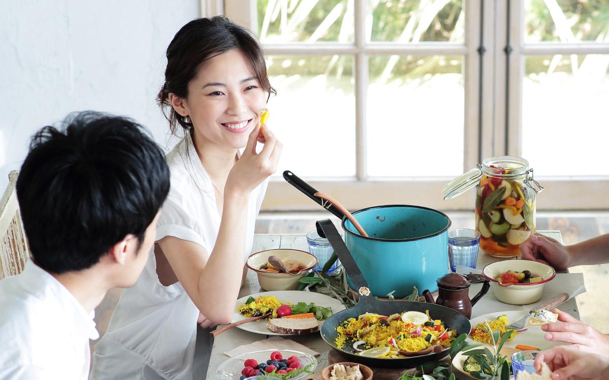 画像:食事の際はマウスピースを外します